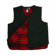 Flannel Lined Green Wool Vest - Made In Vermont