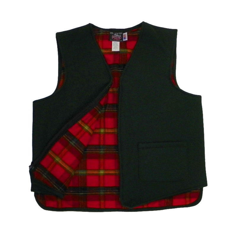 Flannel lined vest green mountain flannel for Flannel shirt and vest